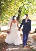 Svadobné šaty+závoj+kruh, 40