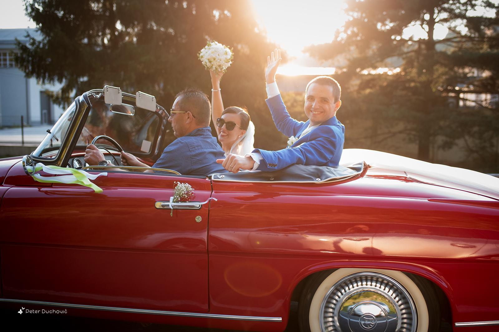 Svadba Lucia a Peter - cestou na hostinu :)