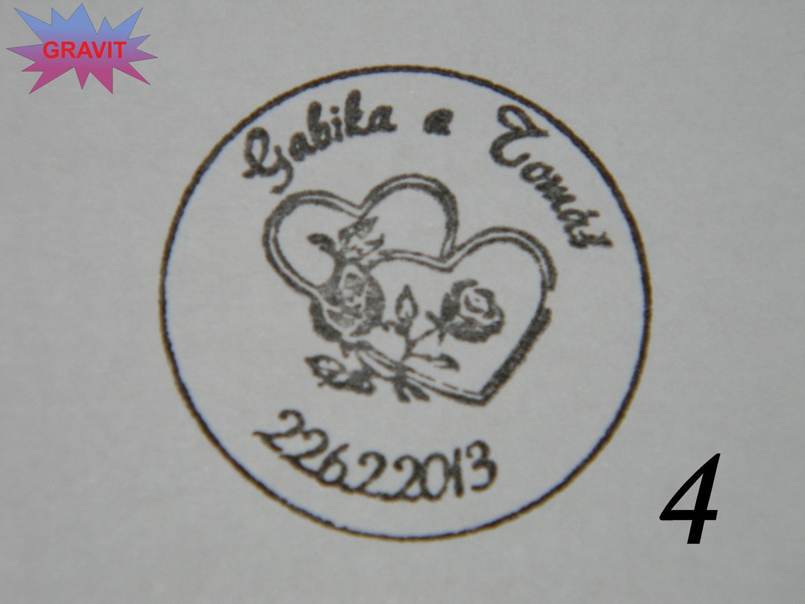 Svadobna pečiatka samonamačacia 4cm - Obrázok č. 3