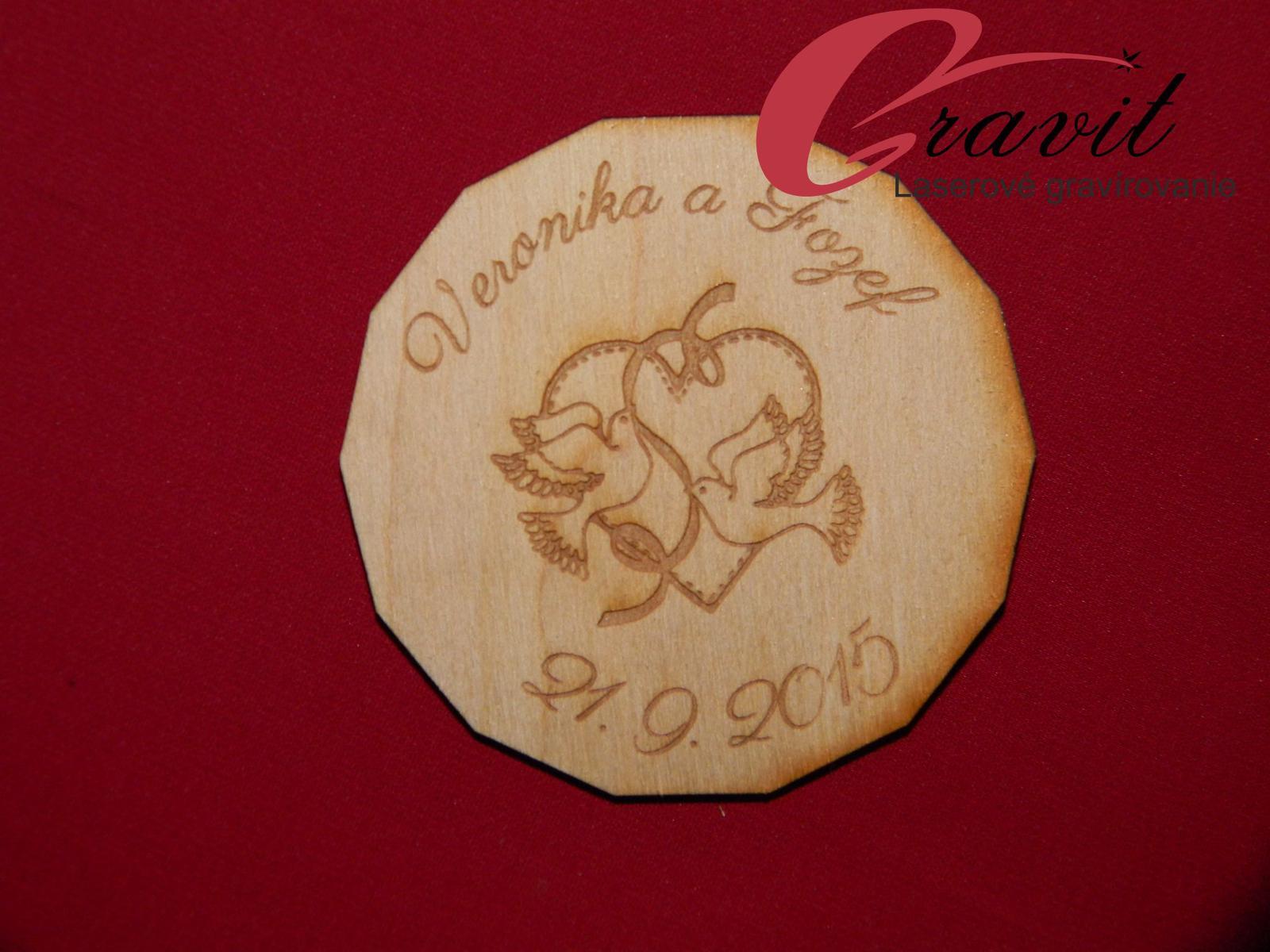 Drevená magnetka z preglejky darček pre hosti 21 - Obrázok č. 1