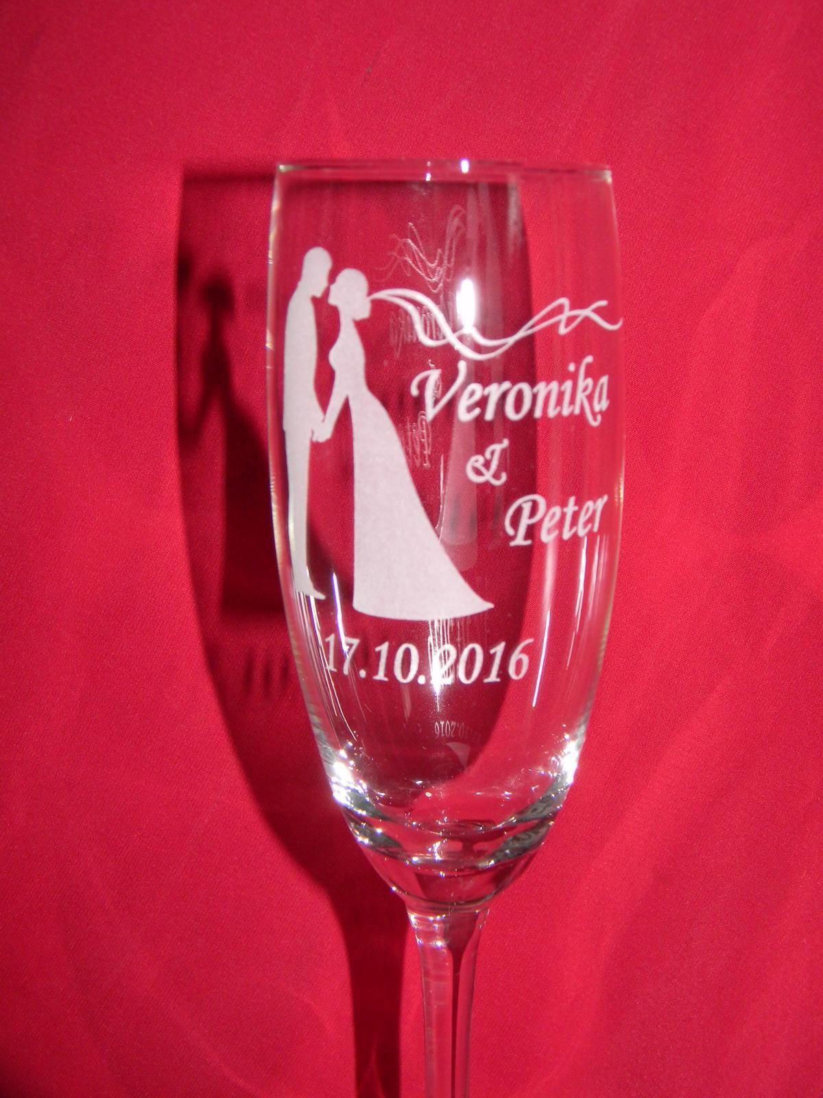 Svadobné poháre + gravirovanie 12 - Obrázok č. 1