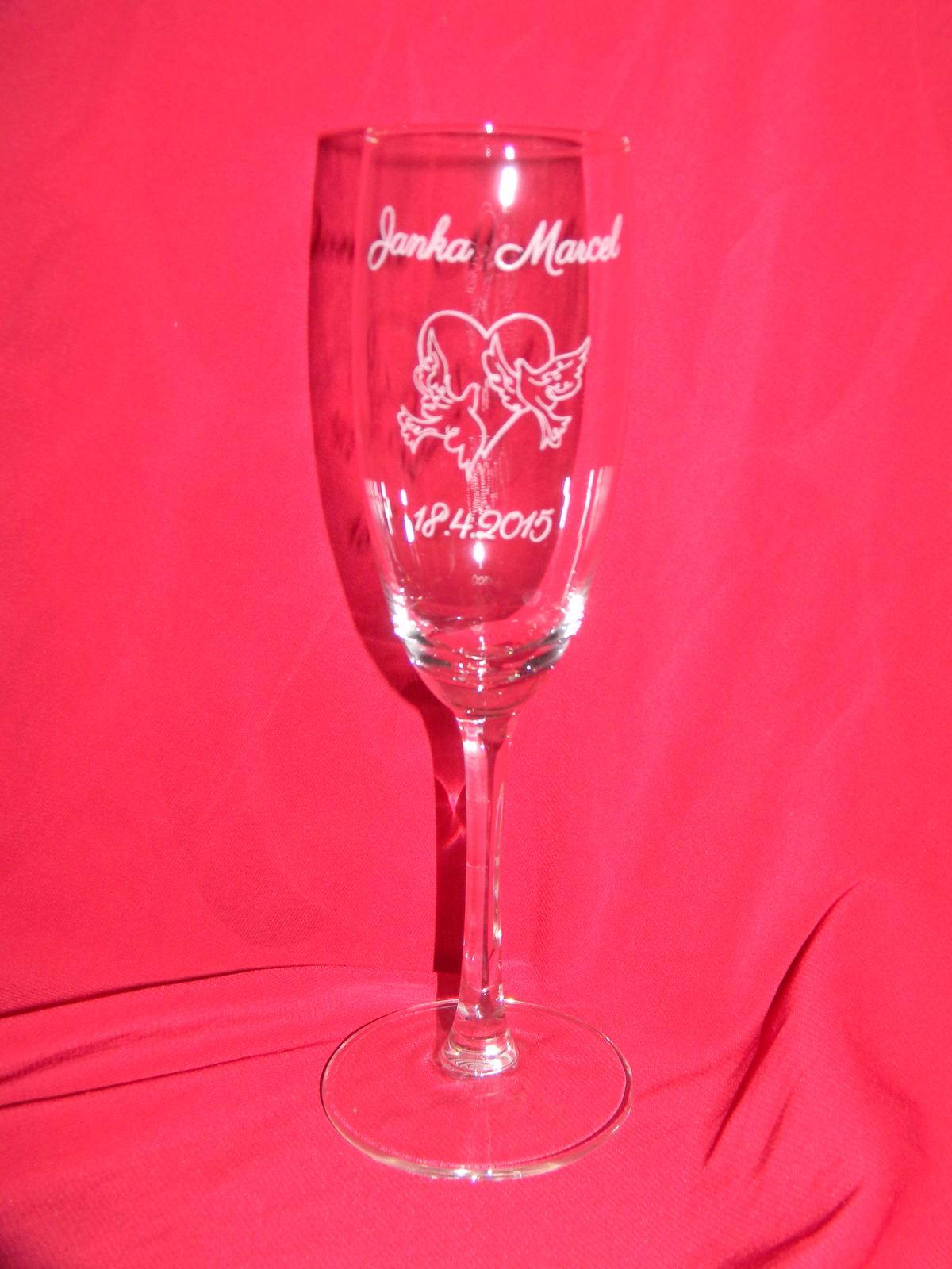 Svadobné poháre + gravirovanie 14 - Obrázok č. 2