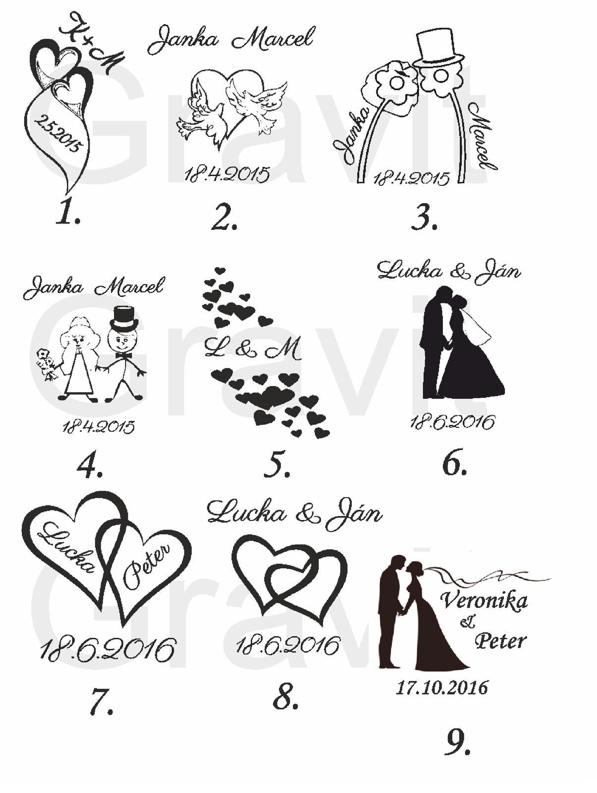 Svadobné poháre + gravirovanie 14 - Obrázok č. 4