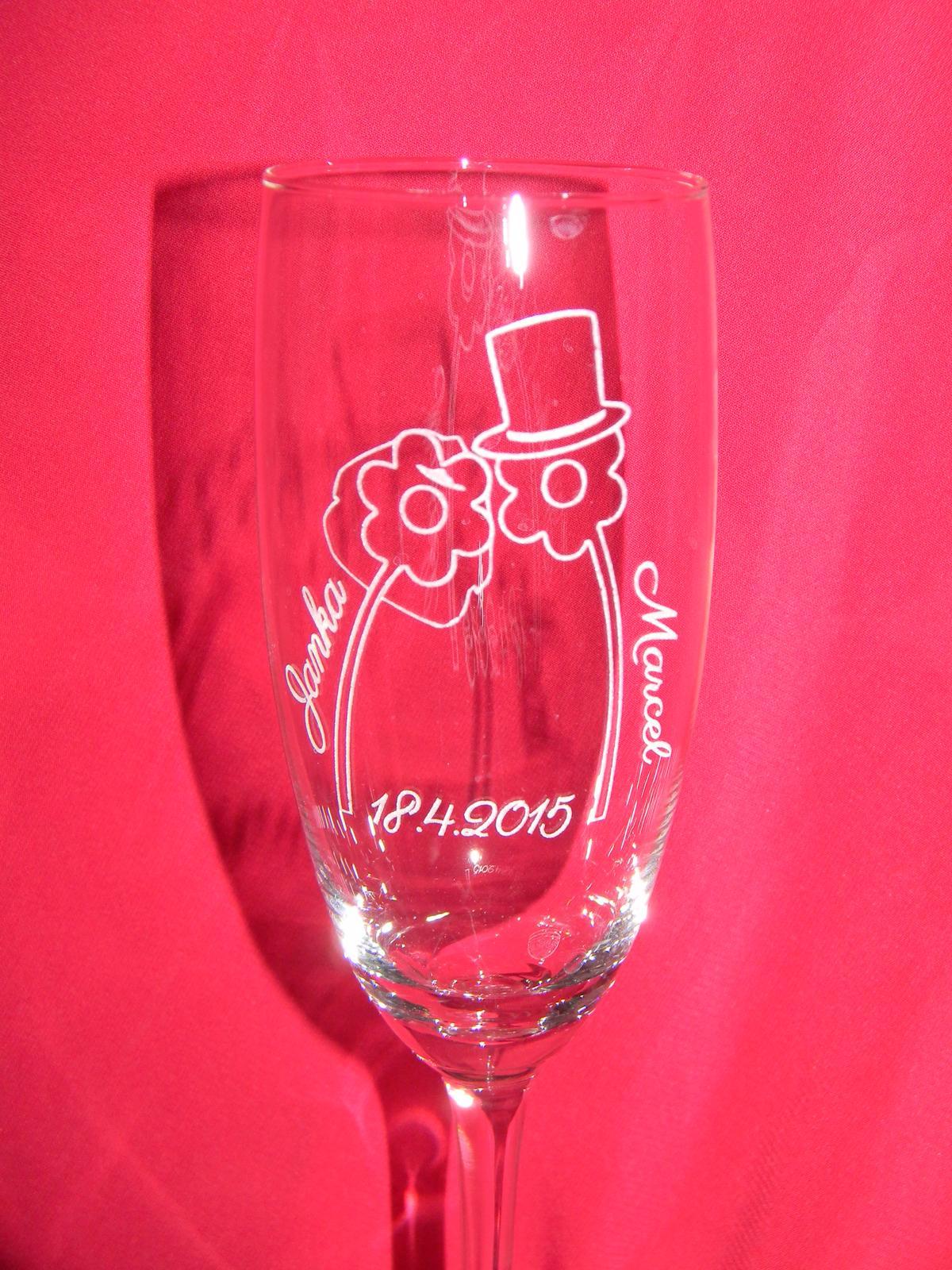 Svadobné poháre + gravirovanie 15 - Obrázok č. 1