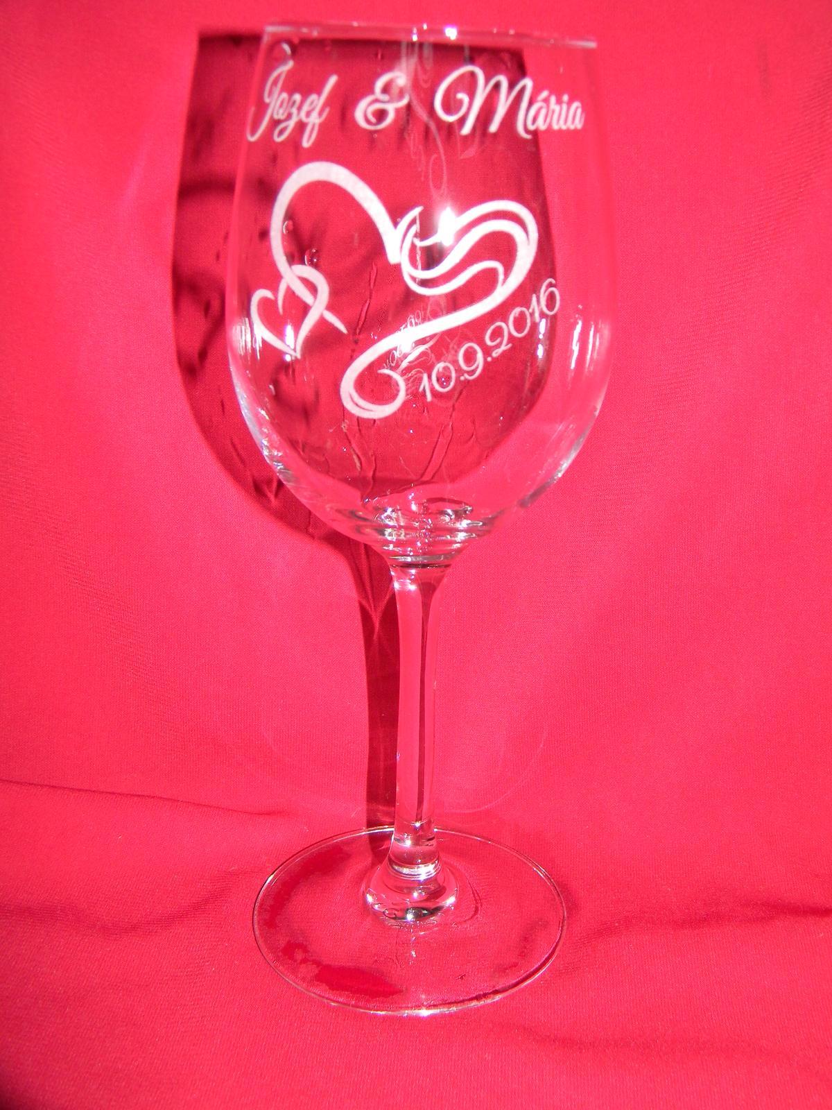 Svadobné poháre + gravirovanie 19 - Obrázok č. 2