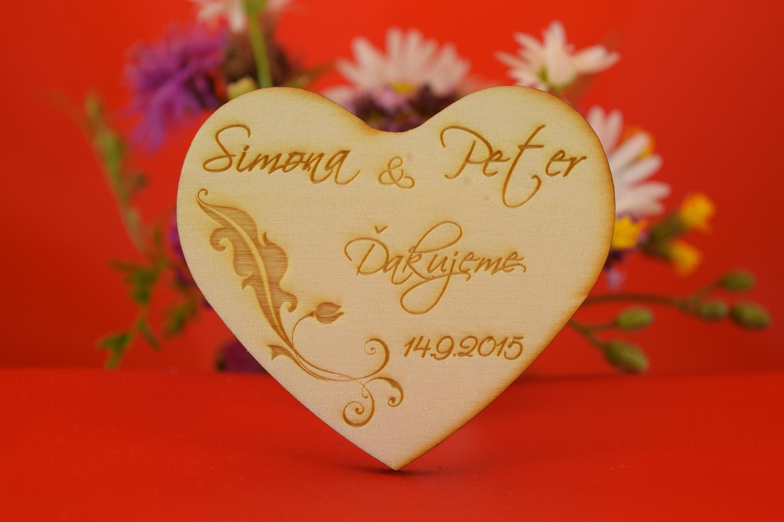 Drevená svadobná agnetka ako darček pre hosti 28 - Obrázok č. 1