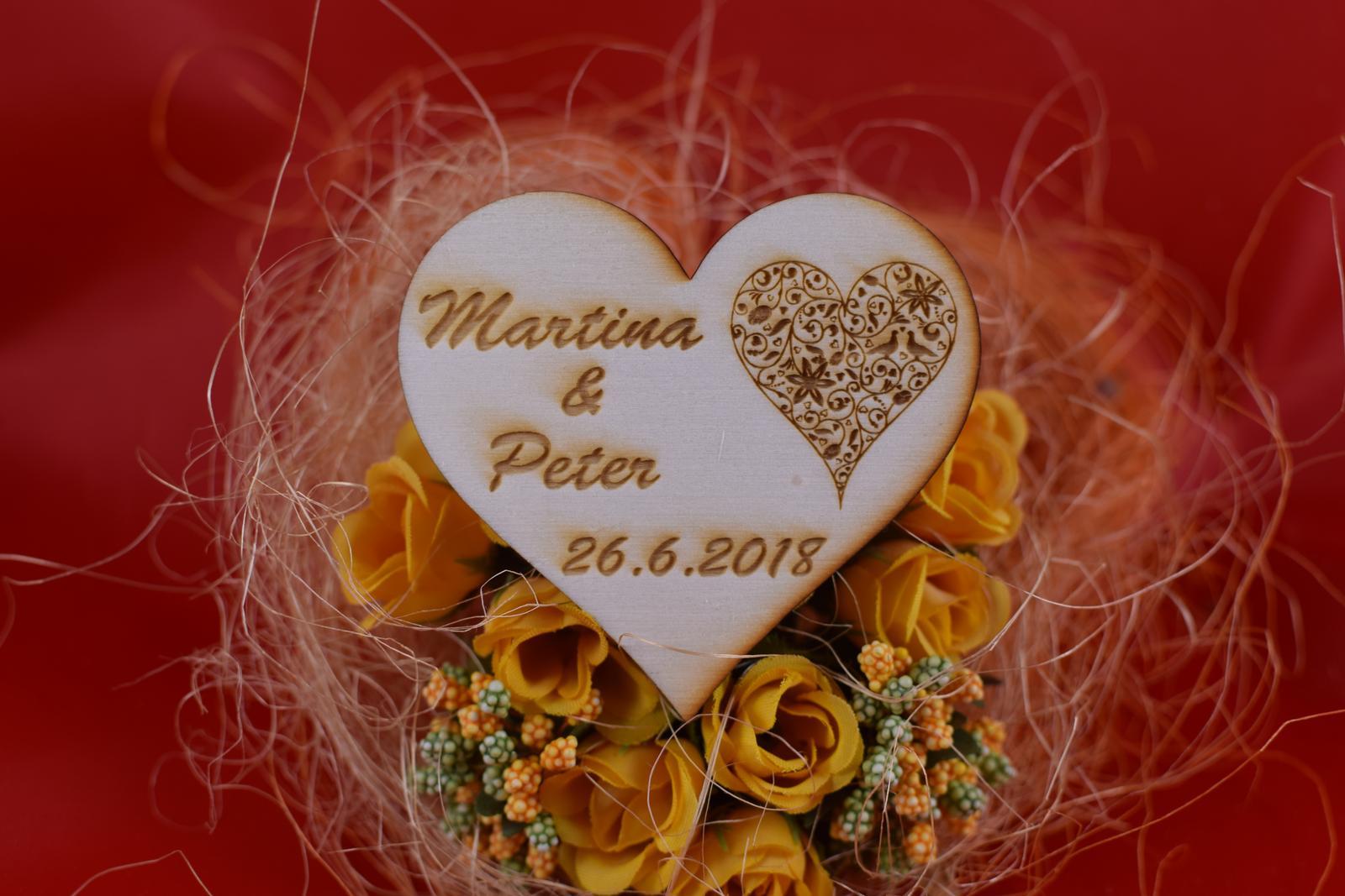 Drevená svadobná magnetka ako darček pre hosti 56 - Obrázok č. 1