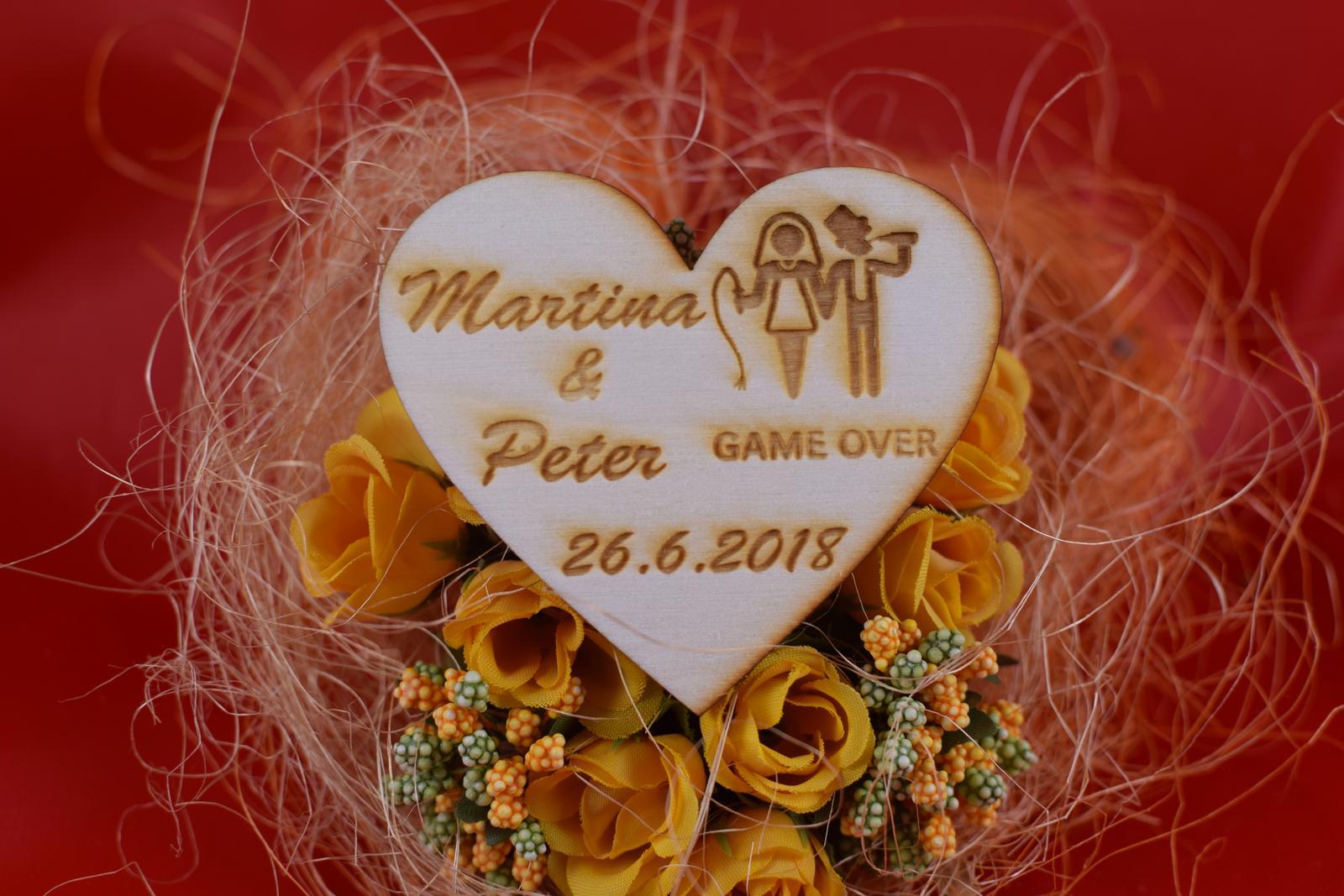 Drevená svadobná magnetka ako darček pre hosti 58 - Obrázok č. 1