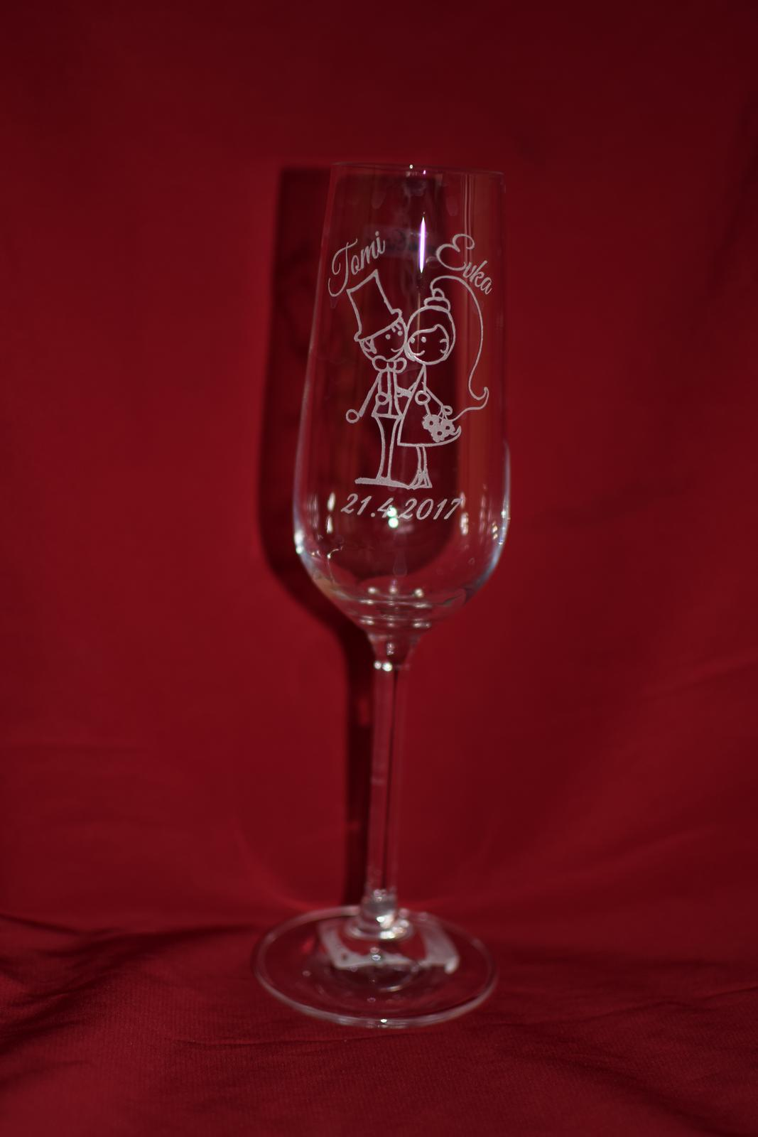 Svadobné poháre + gravirovanie 33 - Obrázok č. 2