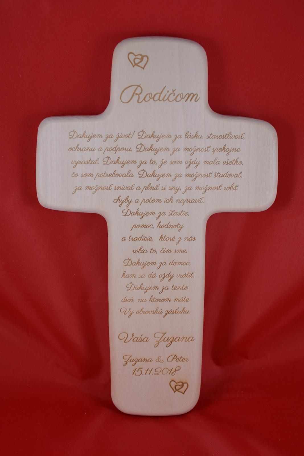 Drevený svadobný križik ako poďakovanie rodičom 1 - Obrázok č. 1