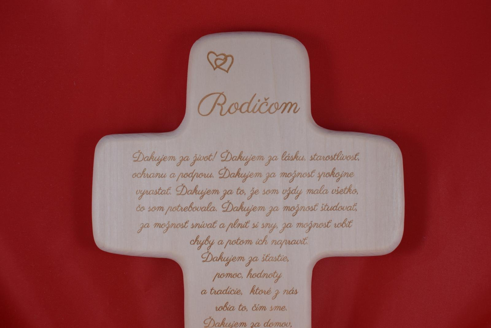 Drevený svadobný križik ako poďakovanie rodičom 1 - Obrázok č. 3