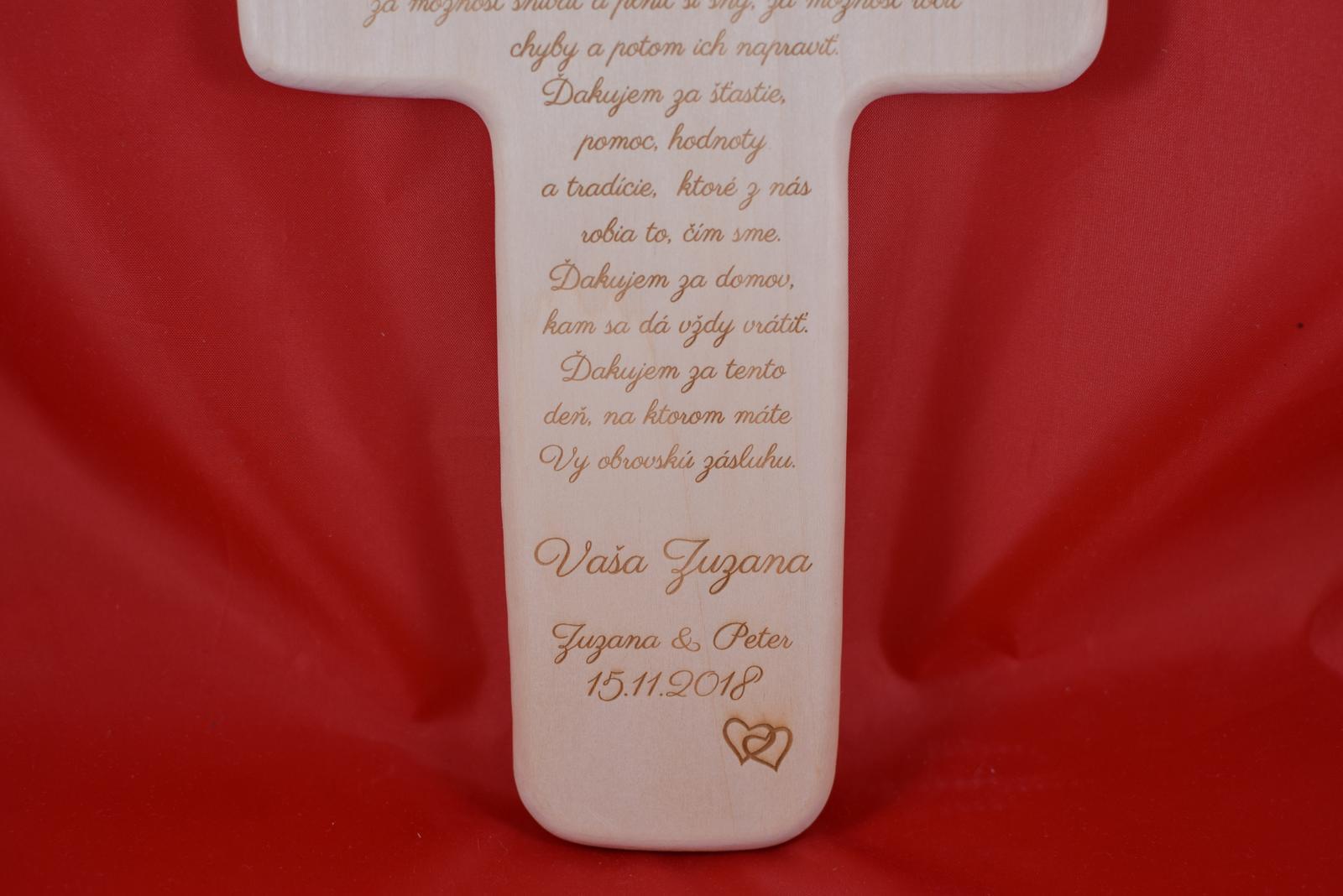 Drevený svadobný križik ako poďakovanie rodičom 1 - Obrázok č. 4