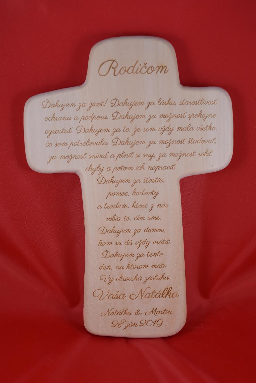 Drevený svadobný križik ako poďakovanie rodičom 2 - Obrázok č. 1