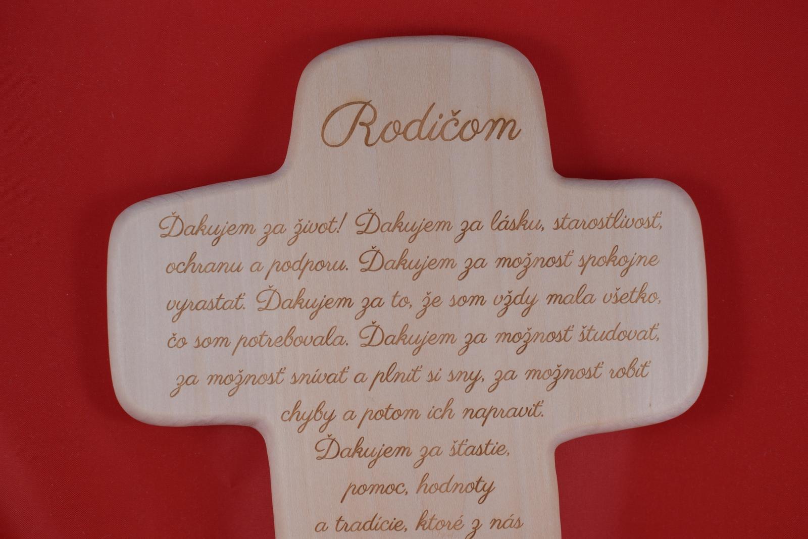 Drevený svadobný križik ako poďakovanie rodičom 2 - Obrázok č. 3