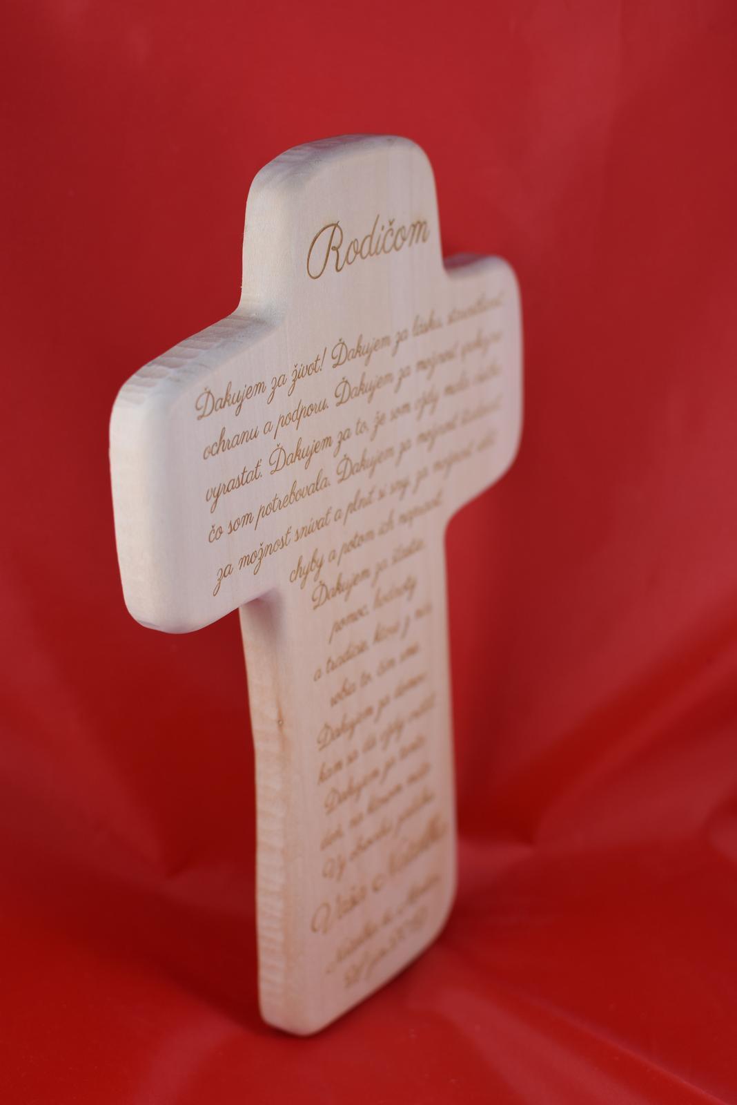 Drevený svadobný križik ako poďakovanie rodičom 2 - Obrázok č. 4
