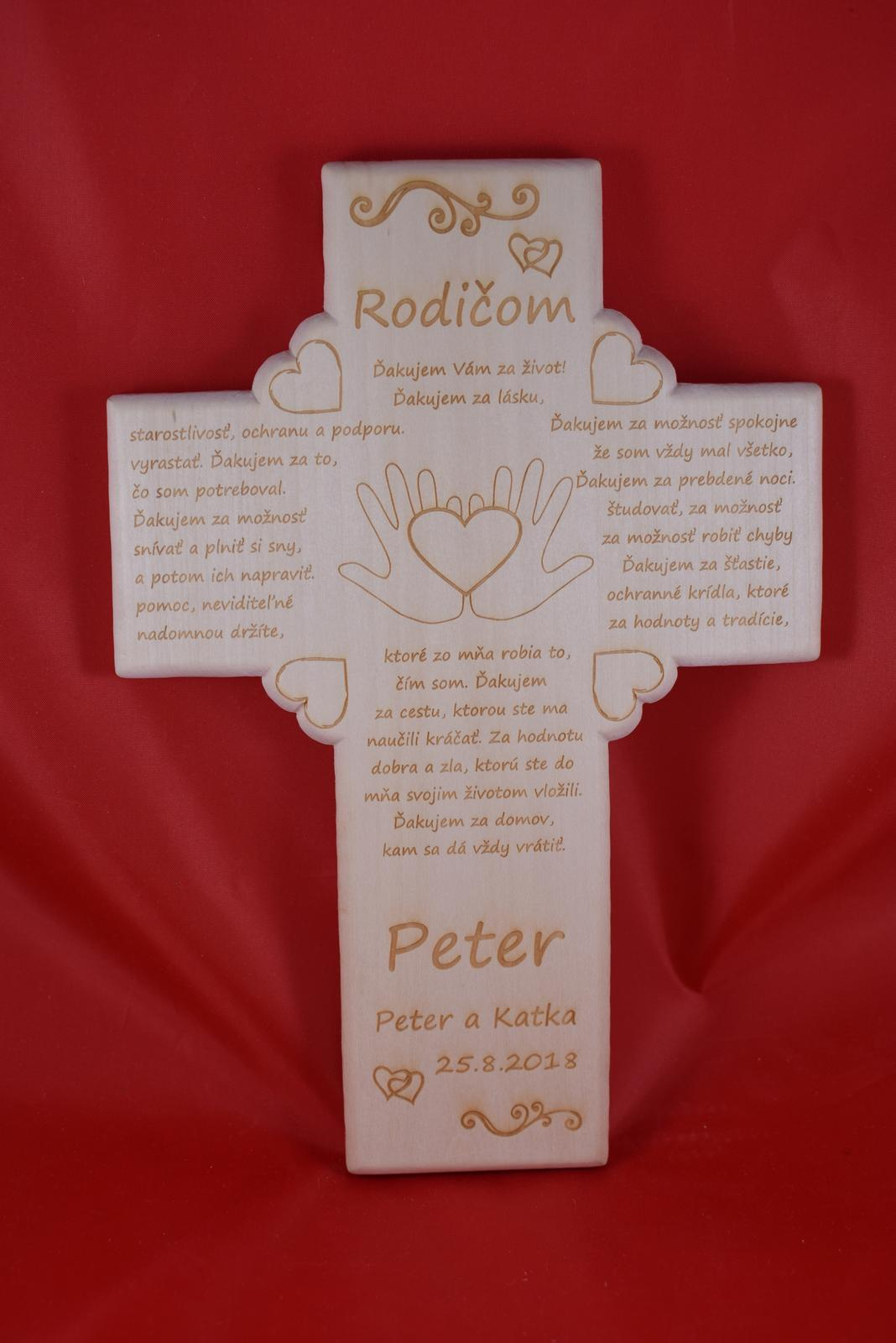 Drevený svadobný križik ako poďakovanie rodičom 3 - Obrázok č. 1