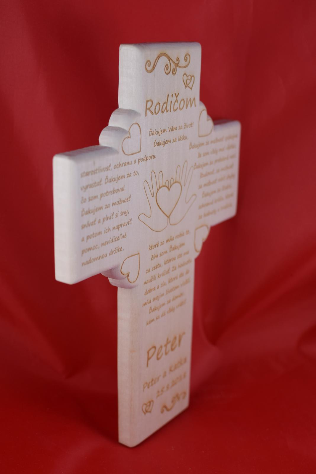 Drevený svadobný križik ako poďakovanie rodičom 3 - Obrázok č. 2