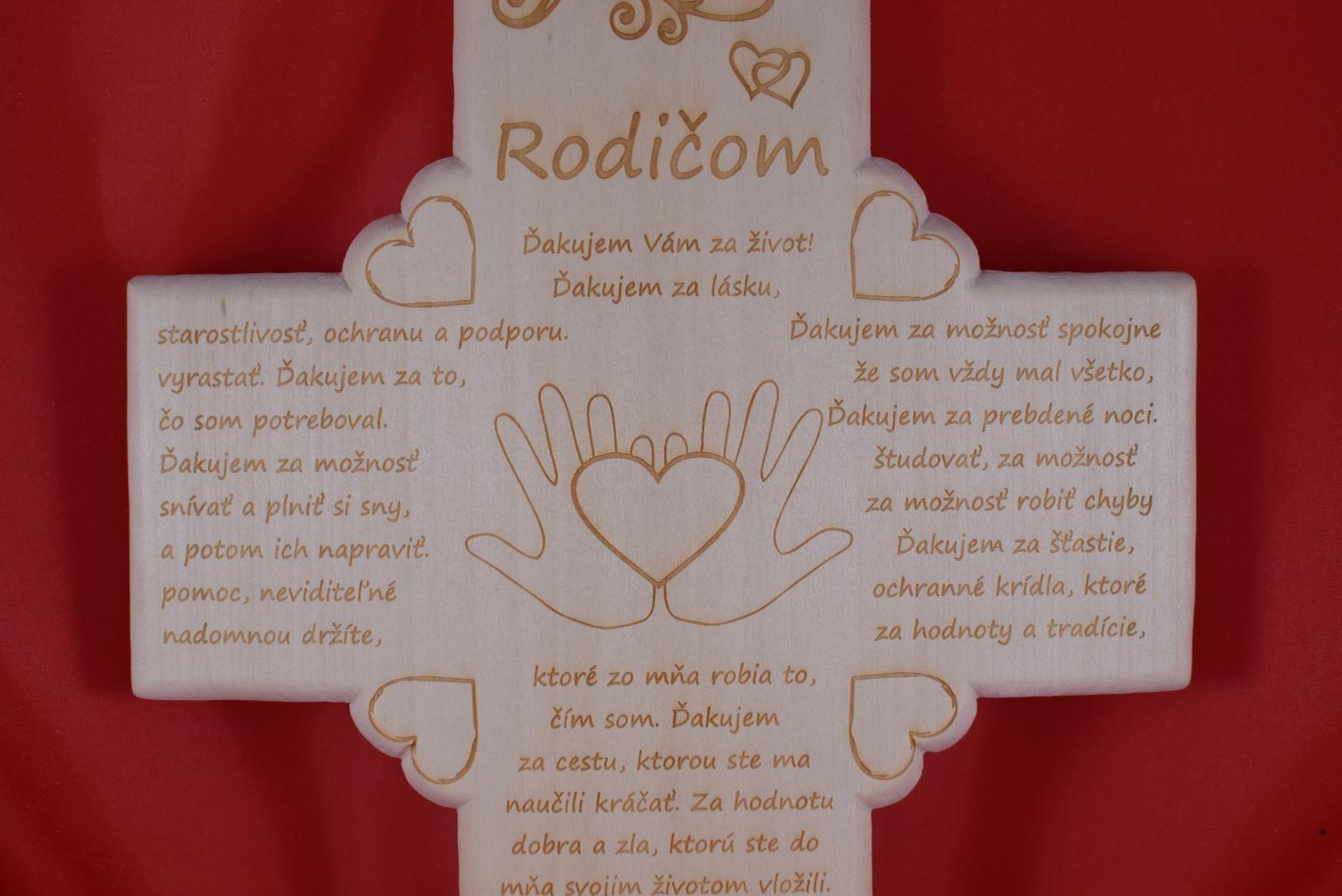 Drevený svadobný križik ako poďakovanie rodičom 3 - Obrázok č. 4