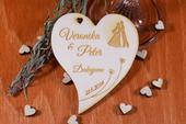 Svadobná magnetka drevená gravírovaná 123,