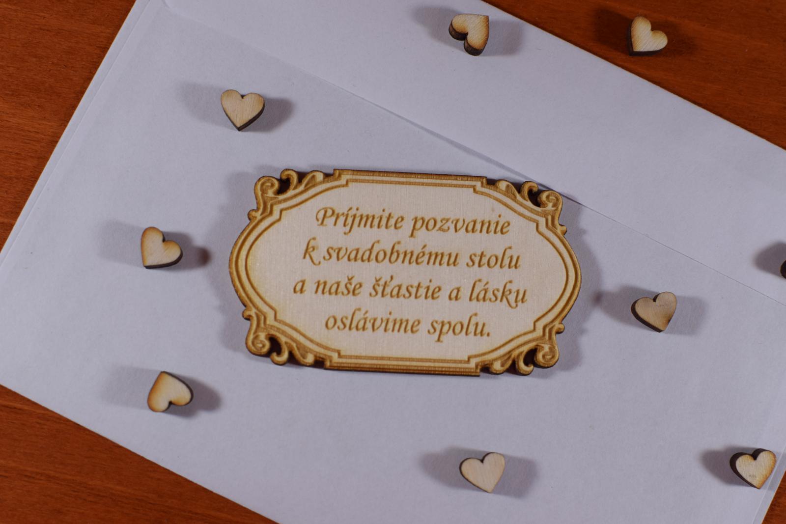 Pozvánka ku svadobnému stolu doplnok k oznámeniu 2 - Obrázok č. 2