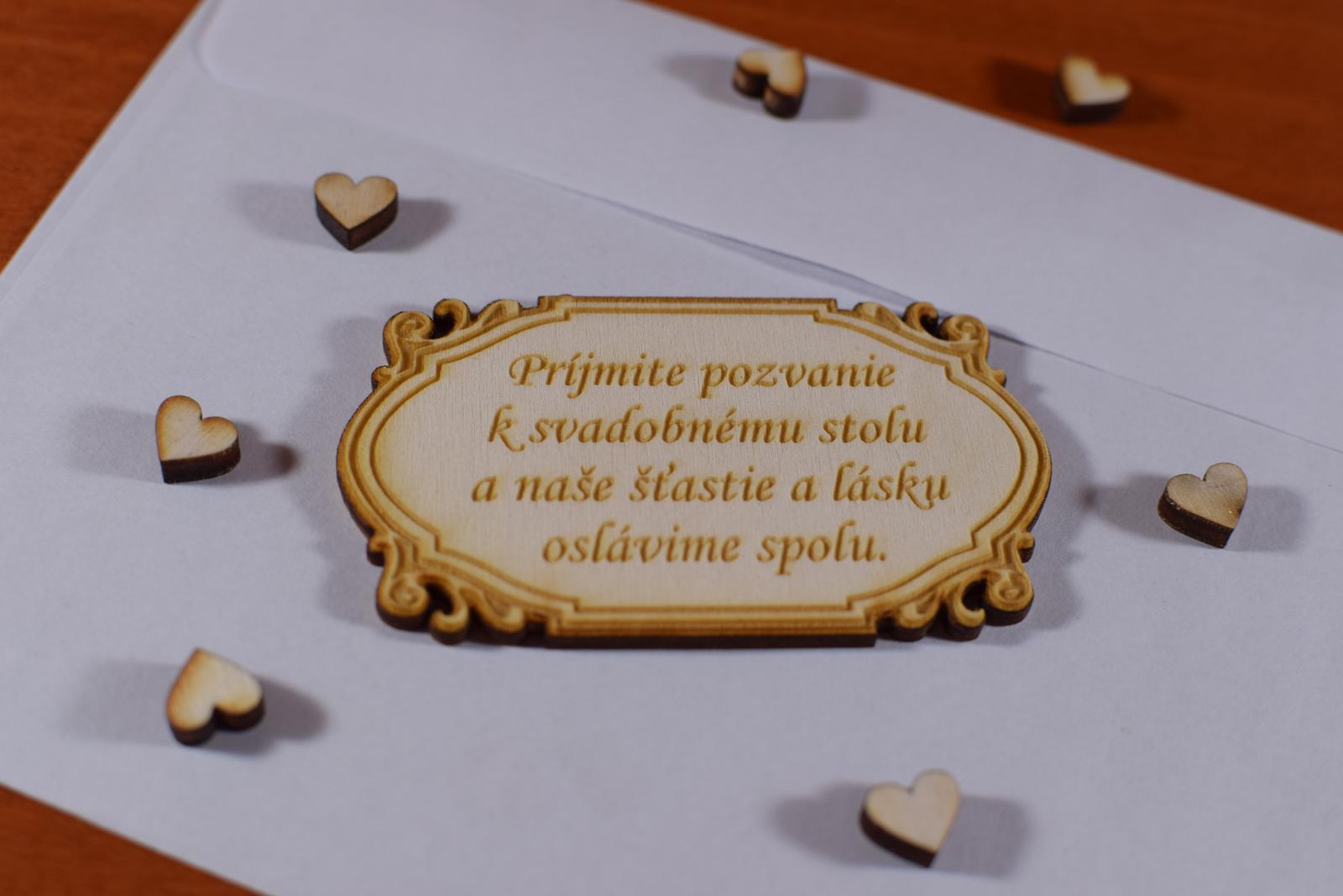 Pozvánka ku svadobnému stolu doplnok k oznámeniu 2 - Obrázok č. 1