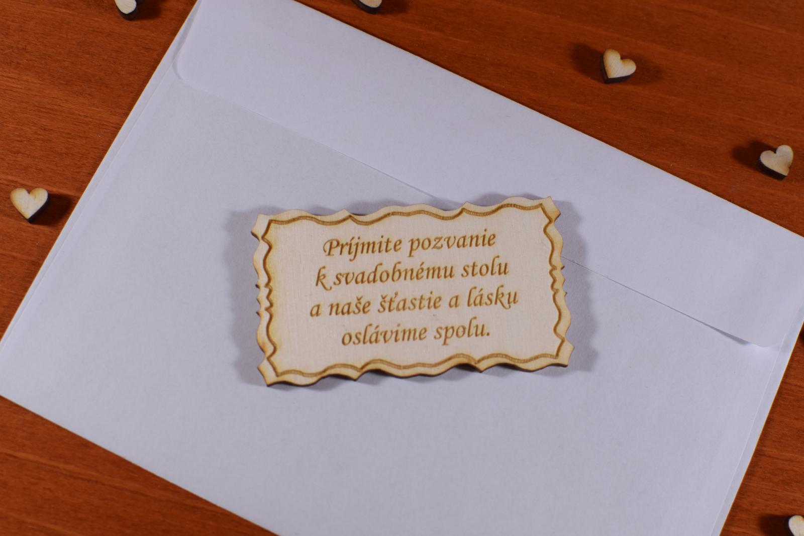 Pozvánka ku svadobnému stolu doplnok k oznámeniu 1 - Obrázok č. 1