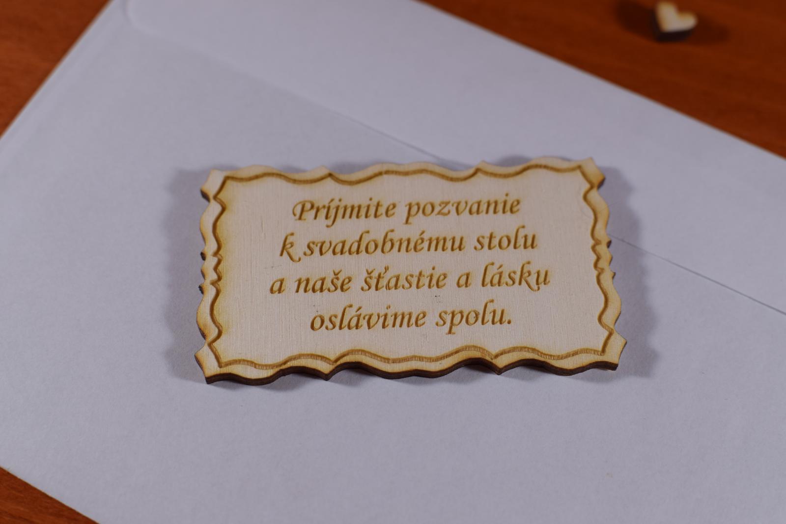 Pozvánka ku svadobnému stolu doplnok k oznámeniu 1 - Obrázok č. 2
