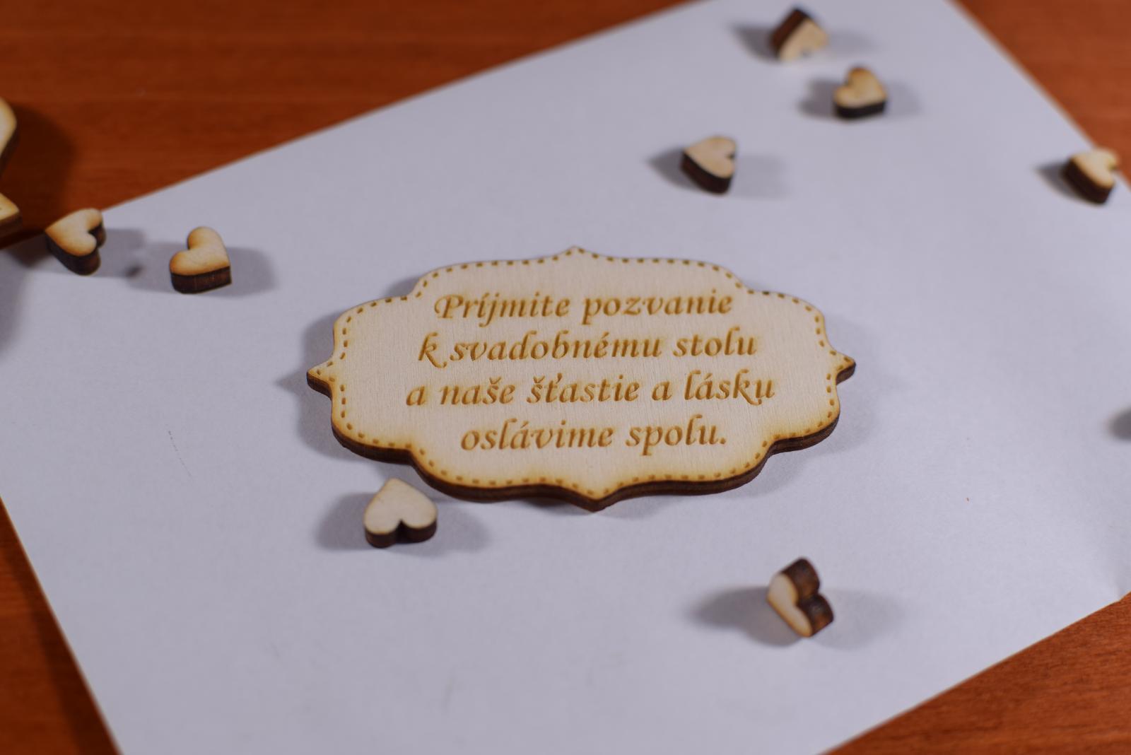 Pozvánka ku svadobnému stolu doplnok k oznámeniu 3 - Obrázok č. 2