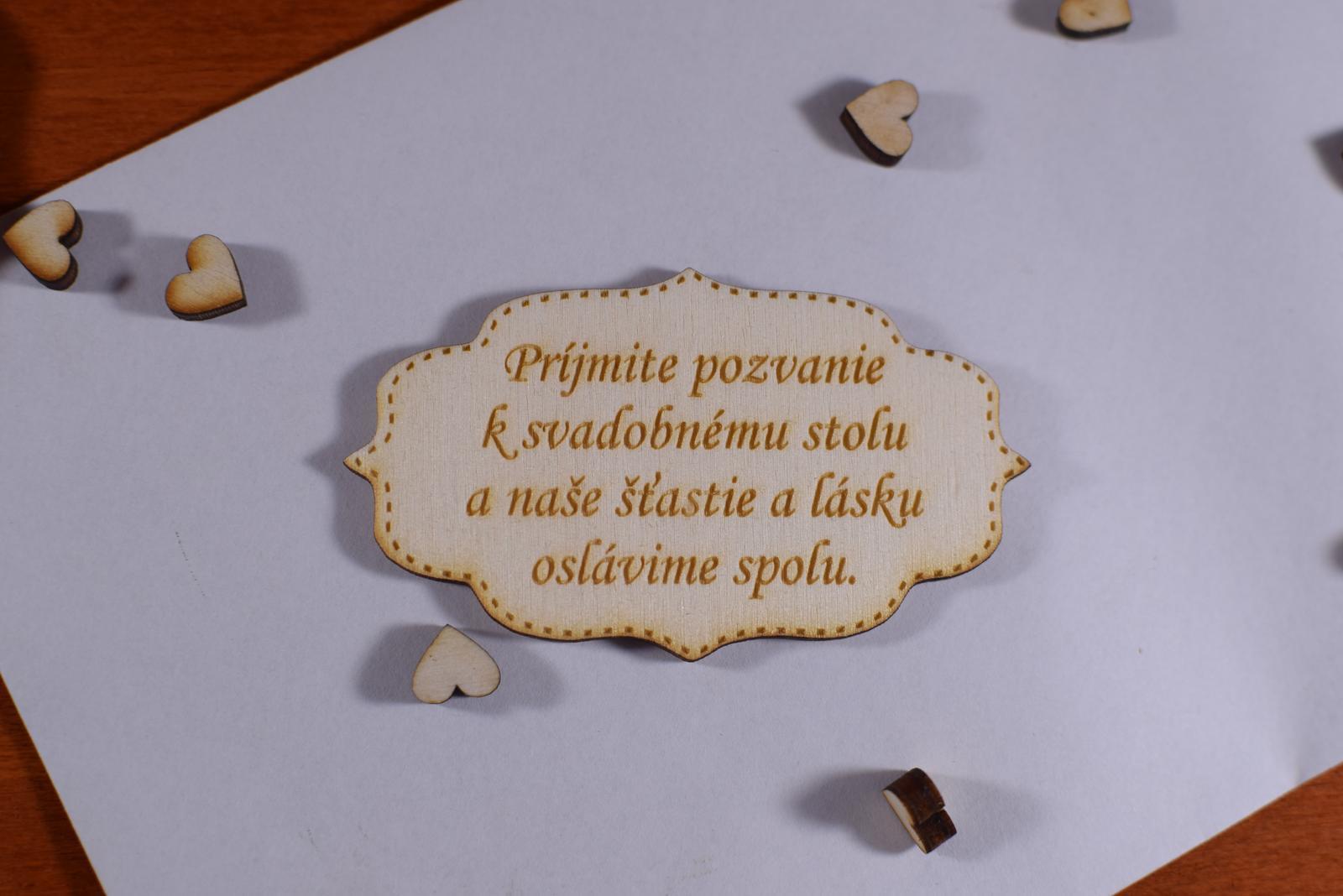 Pozvánka ku svadobnému stolu doplnok k oznámeniu 3 - Obrázok č. 1