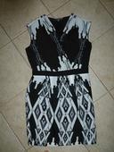 Pouzdrové černobílé šaty Ma&spencer, 38