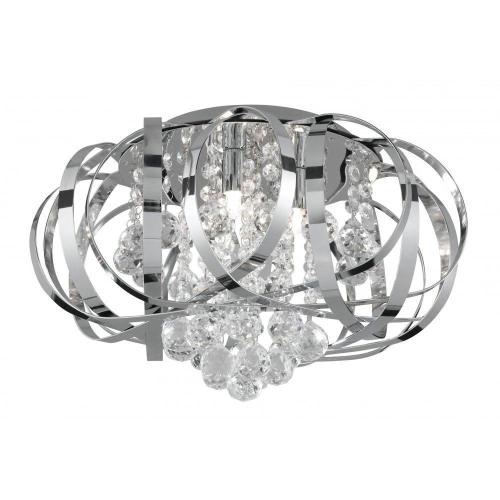 Svietidlá - TILLY CC 3LT FLUSH FTG - CL GLASS BALLS ROZMER: Š385 G9 3x33W | 249,99 €