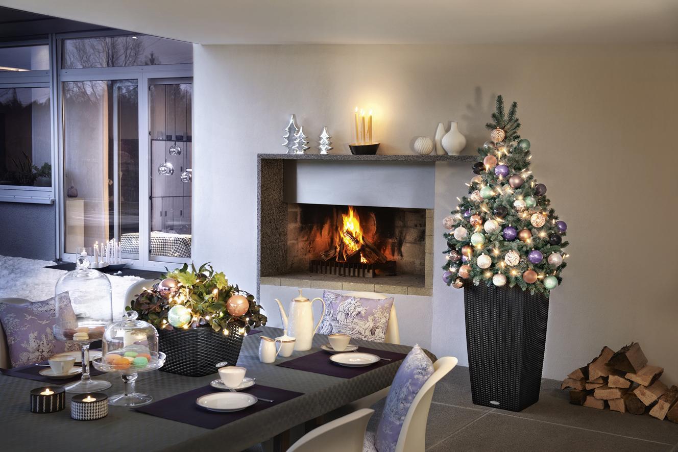 LECHUZA inšpirácia ako využiť kvetináče na vianočnú dekoráciu - Obrázok č. 2