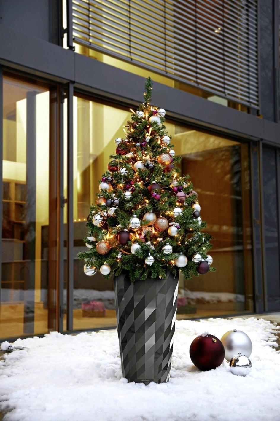 LECHUZA inšpirácia ako využiť kvetináče na vianočnú dekoráciu - Obrázok č. 11