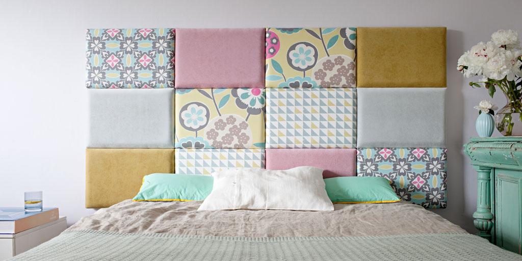 NOVINKA | čalúnené panely za posteľ - Obrázok č. 1