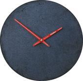 Betónové nástenné hodiny 30 cm CLOCKIES čierne,