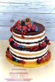 """Svatební dort ve stylu """"naked cake"""""""