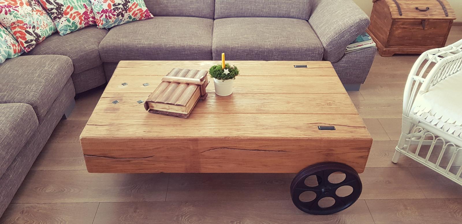 Vitajte u nás :) - Krásny dubový stôl s povrchovou úpravou olejovaním...