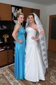 Prekrásne snehovobiele svadobné šatičky 38-42, 38