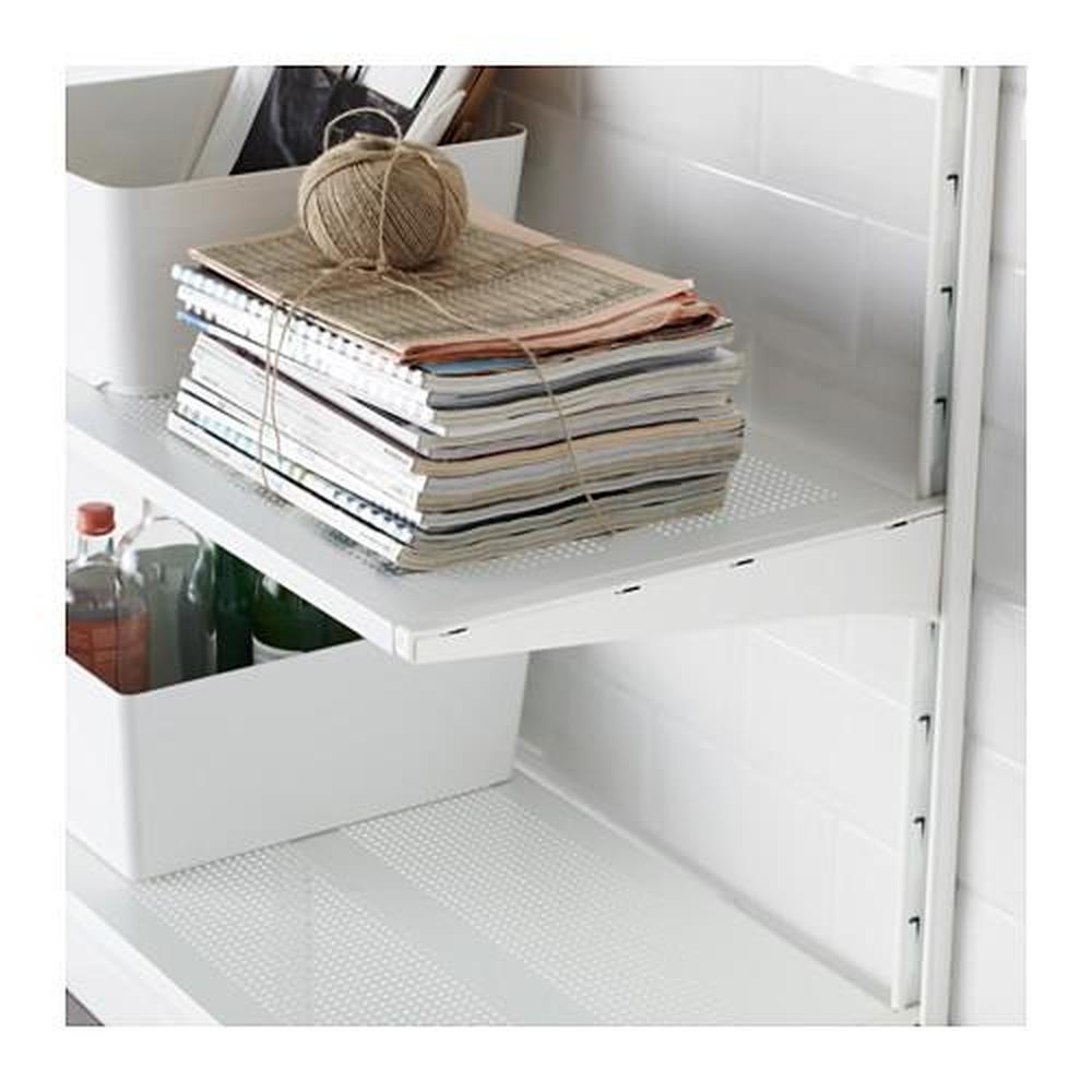 ALGOT IKEA viete mi niekto poradiť, ako sa dá nahradiť? ikea prestala vyrábať, nepredáva, my máme tento systém v dvoch komorách, potrebujem doplniť dve police a konzoly z hornbachu vyzerajú nekompatibilne. - Obrázok č. 1