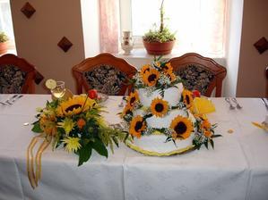 splnění snu - slunečnicový dort