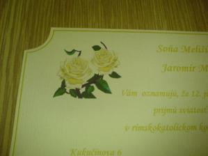 ružičky na oznámení