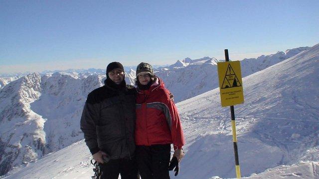 Anka a Jarko - zásnubná lyzovacka v tirolsku