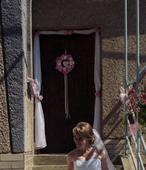 Organza s ružami na dvere ,