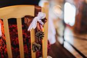 Mašličky na židle - přírodní svatba,