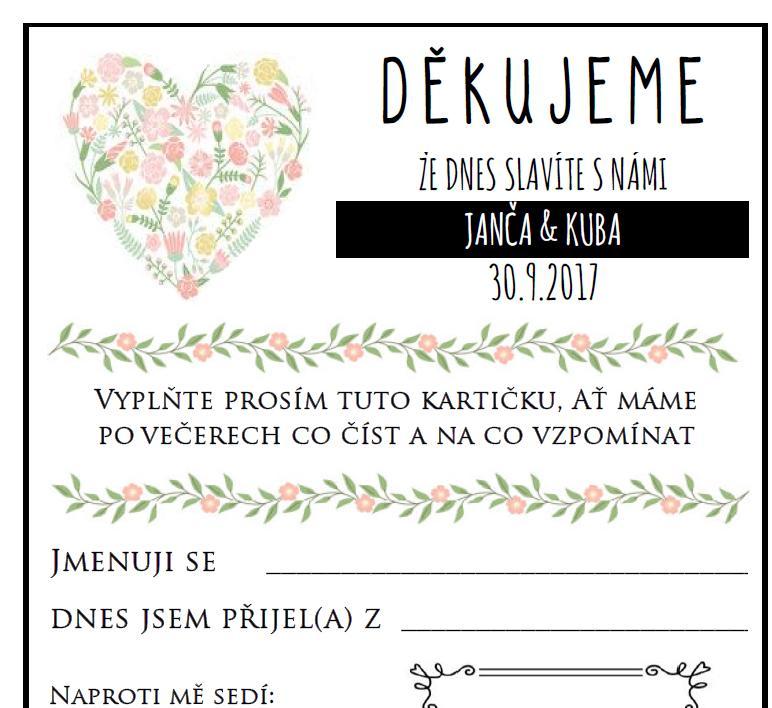 Hello wedding guest v češtině - Obrázek č. 1