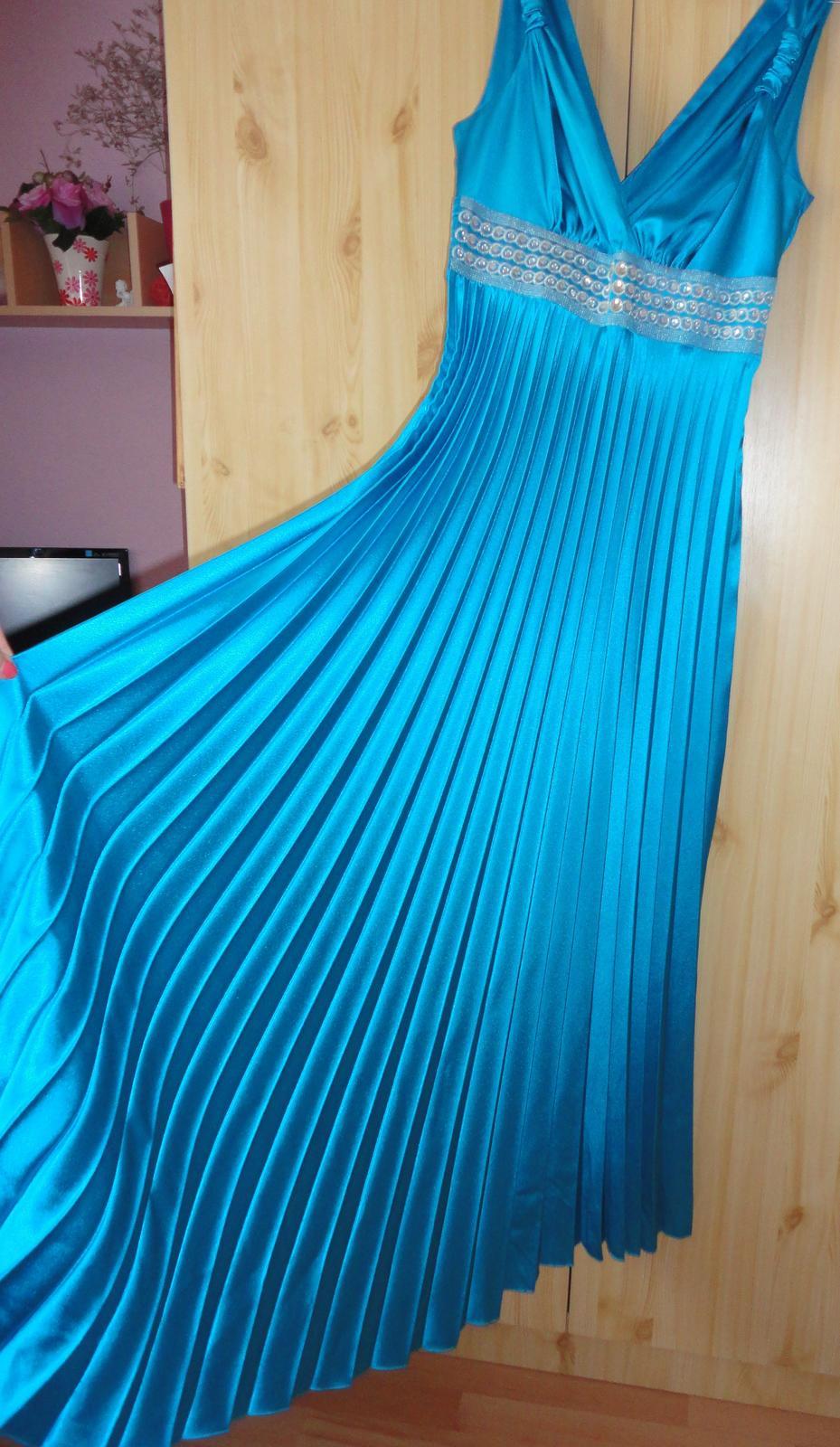 Spoločenské šaty - tyrkysové - Obrázok č. 2
