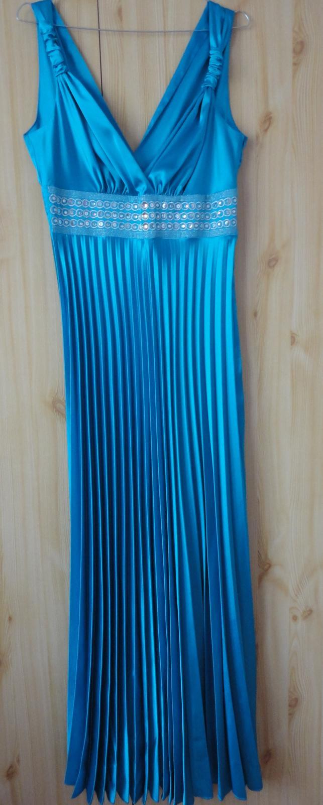 Spoločenské šaty - tyrkysové - Obrázok č. 3