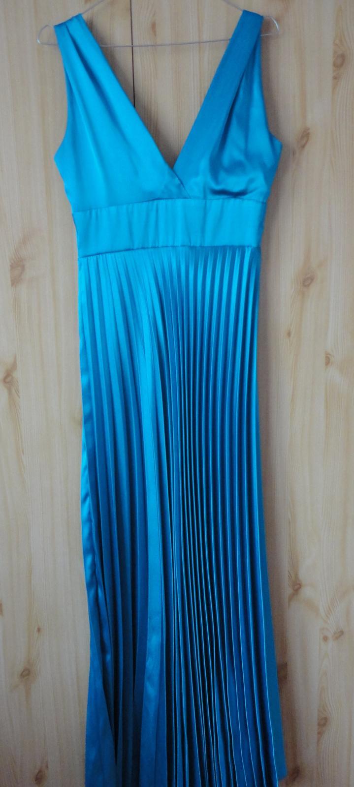 Spoločenské šaty - tyrkysové - Obrázok č. 4