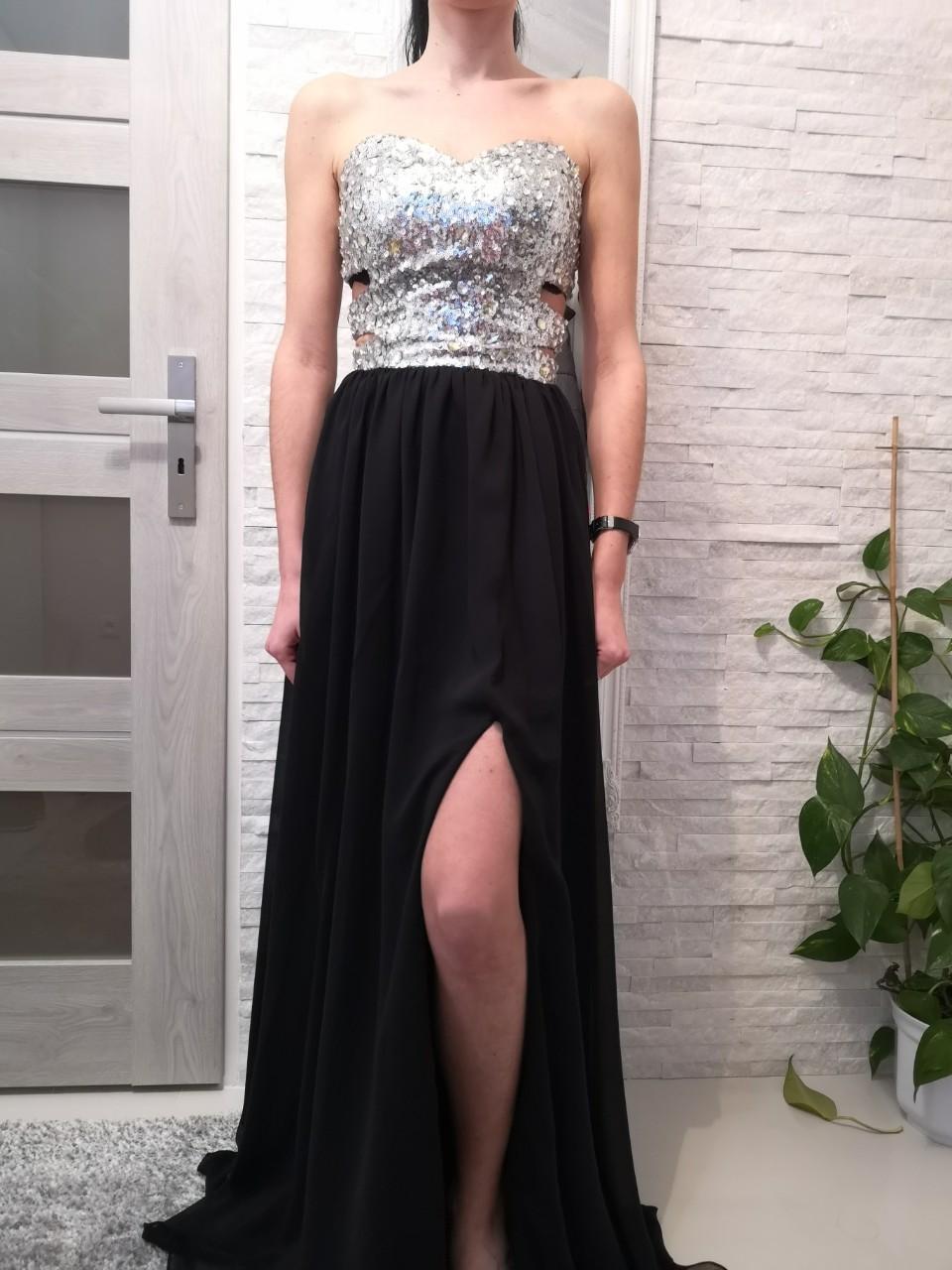 Spoločenské šaty veľ.XS - Obrázok č. 1