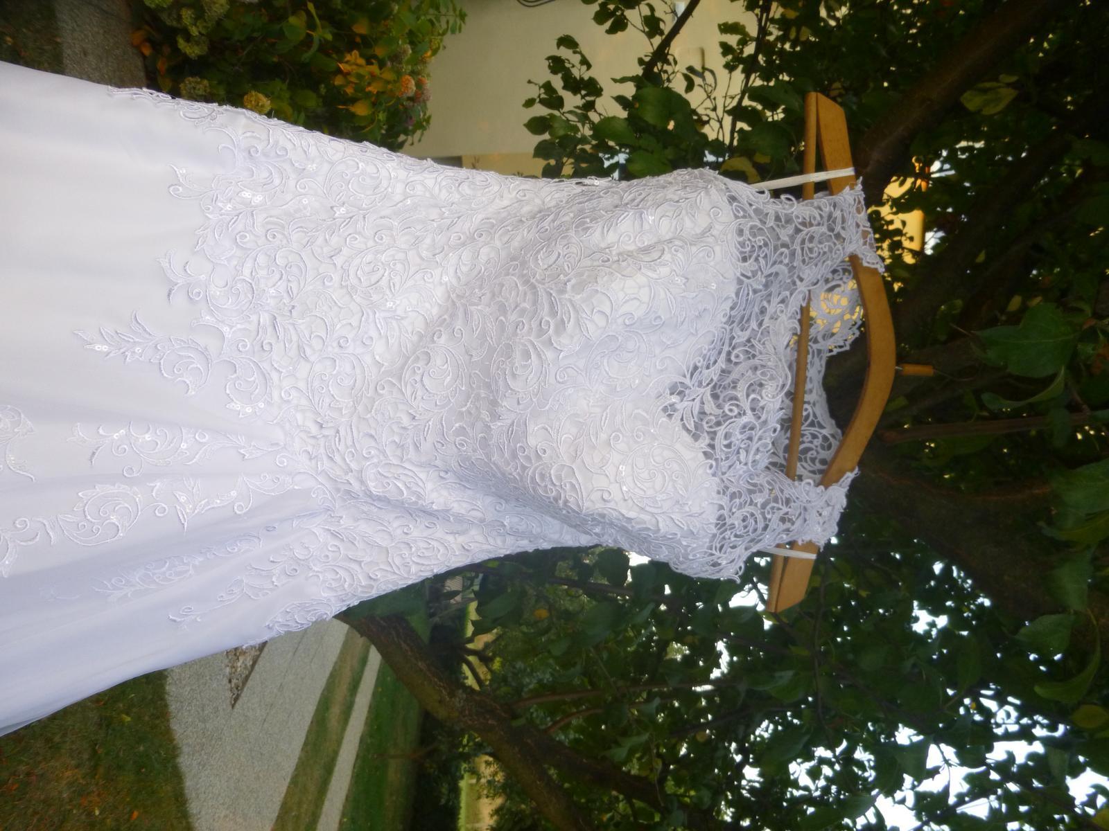 čipkované svadobné šaty 38 - Obrázok č. 4